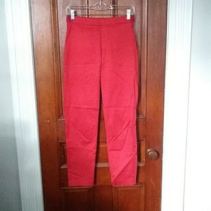 Uniqlo Small Smart Style Red Satin Pants